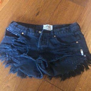 Black one teaspoon shorts - Bonita's